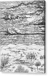 Looming Snowstorm Acrylic Print