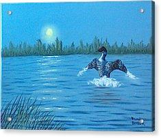 Loon Dance Acrylic Print