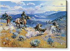 Loops And Swift Horses Are Surer Than Lead Acrylic Print by Charles Russell