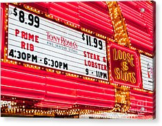 Loose Slots Acrylic Print by Andy Smy