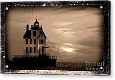 Lorain Lighthouse - Lake Erie - Lorain Ohio Acrylic Print