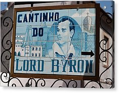 Lord Byon Ate Here Acrylic Print by Carl Purcell