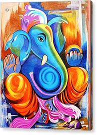 Lord Ganesh  Acrylic Print by Rupa Prakash