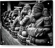 Lord Ganesha Acrylic Print by Abhishek Singh & illuminati visuals