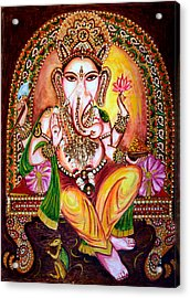 Acrylic Print featuring the painting Lord Ganesha by Harsh Malik