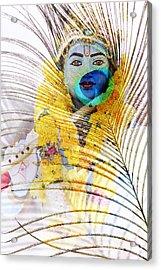 Lord Krishna Acrylic Print by Tim Gainey