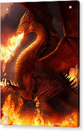 Lord Of The Dragons Acrylic Print by Philip Straub