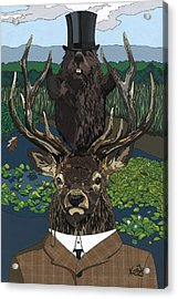Lord Of The Manor With Hidden Pictures Acrylic Print