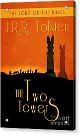 Lord Of The Rings The Two Towers Book Cover Movie Poster Art 1 Acrylic Print