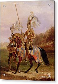 Lord Of The Tournament Acrylic Print by Edward Henry Corbould