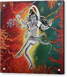 Lord Shiva-the Cosmic Dance Acrylic Print by Tamanna  Sagar