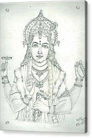 Lord Vishnu Acrylic Print by Archit Singh