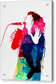 Lorde Watercolor Acrylic Print by Naxart Studio