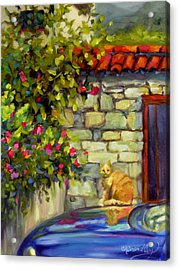 Acrylic Print featuring the painting Lorenzo by Chris Brandley