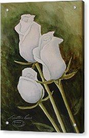 Lorettas Roses Acrylic Print by Sharon Steinhaus