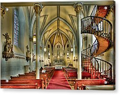 Acrylic Print featuring the photograph Loretto Chapel Altar by Anna Rumiantseva