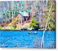 Lorton Lake Canoe Acrylic Print