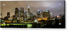 Acrylic Print featuring the photograph Los Angeles At Night by April Reppucci