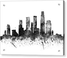 Los Angeles California Cityscape 02bw Acrylic Print by Aged Pixel