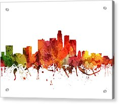 Los Angeles Cityscape 04 Acrylic Print by Aged Pixel