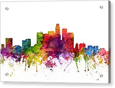 Los Angeles Cityscape 06 Acrylic Print by Aged Pixel