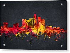 Los Angeles Cityscape 07 Acrylic Print by Aged Pixel