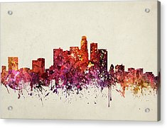 Los Angeles Cityscape 09 Acrylic Print by Aged Pixel