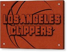 Los Angeles Clippers Leather Art Acrylic Print by Joe Hamilton