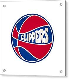 Los Angeles Clippers Retro Shirt Acrylic Print by Joe Hamilton