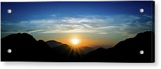 Acrylic Print featuring the photograph Los Angeles Desert Mountain Sunset by T Brian Jones