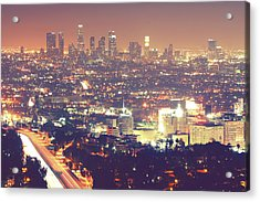 Los Angeles Acrylic Print by Dj Murdok Photos