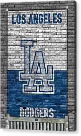 Los Angeles Dodgers Brick Wall Acrylic Print