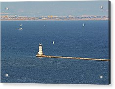 Los Angeles Harbor Light - Angel's Gate - California Acrylic Print by Christine Till