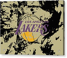 Los Angeles Lakers  Acrylic Print by Brian Reaves