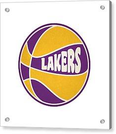 Los Angeles Lakers Retro Shirt Acrylic Print