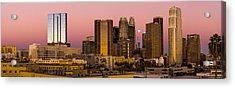 Los Angeles Moonrise 2014 Acrylic Print