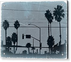 Los Angeles Acrylic Print by Naxart Studio