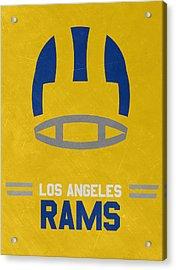 Los Angeles Rams Vintage Art Acrylic Print by Joe Hamilton