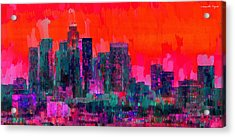 Los Angeles Skyline 103 - Da Acrylic Print