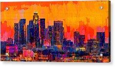 Los Angeles Skyline 113 - Da Acrylic Print by Leonardo Digenio