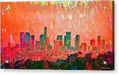 Los Angeles Skyline 3 - Pa Acrylic Print