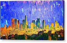 Los Angeles Skyline 5 - Pa Acrylic Print