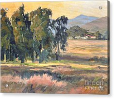 Los Osos Valley - For The Love Of The Land - California Landscape Painting Acrylic Print by Karen Winters