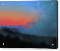 Los Penasquitos Canyon Xiii--coastal Fog At Dawn Acrylic Print by Robin Street-Morris