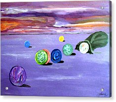 Losing My Marbles Acrylic Print by  Laurie Homan