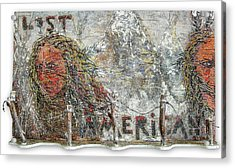 Lost Americans At Wounded Knee Acrylic Print by Tony A Blue