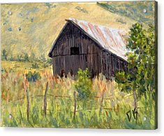 Acrylic Print featuring the painting Lost Barn by David King