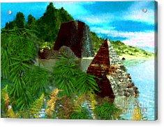Lost City Acrylic Print by David Lane