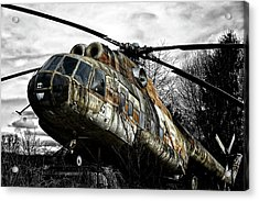 Lost Helicopter Acrylic Print by Joachim G Pinkawa
