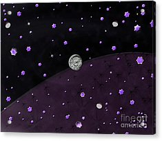 Lost In Midnight Charcoal Stars Acrylic Print